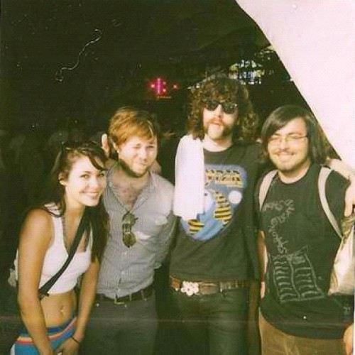 #throwbackthursday Coachella 09 w/ @andylefthand and Gaspard from #JUSTICE (Taken with Instagram)