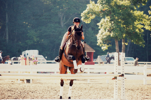 haleybreen:  me and the nemonster! fieldstone warmup photo by qwertzponies summer '12  Fieldstone I miss summer