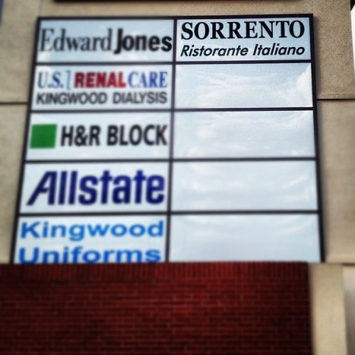 Our sign is here!! We couldn't be happier! (Taken with Instagram at Sorrento Ristorante Italiano)