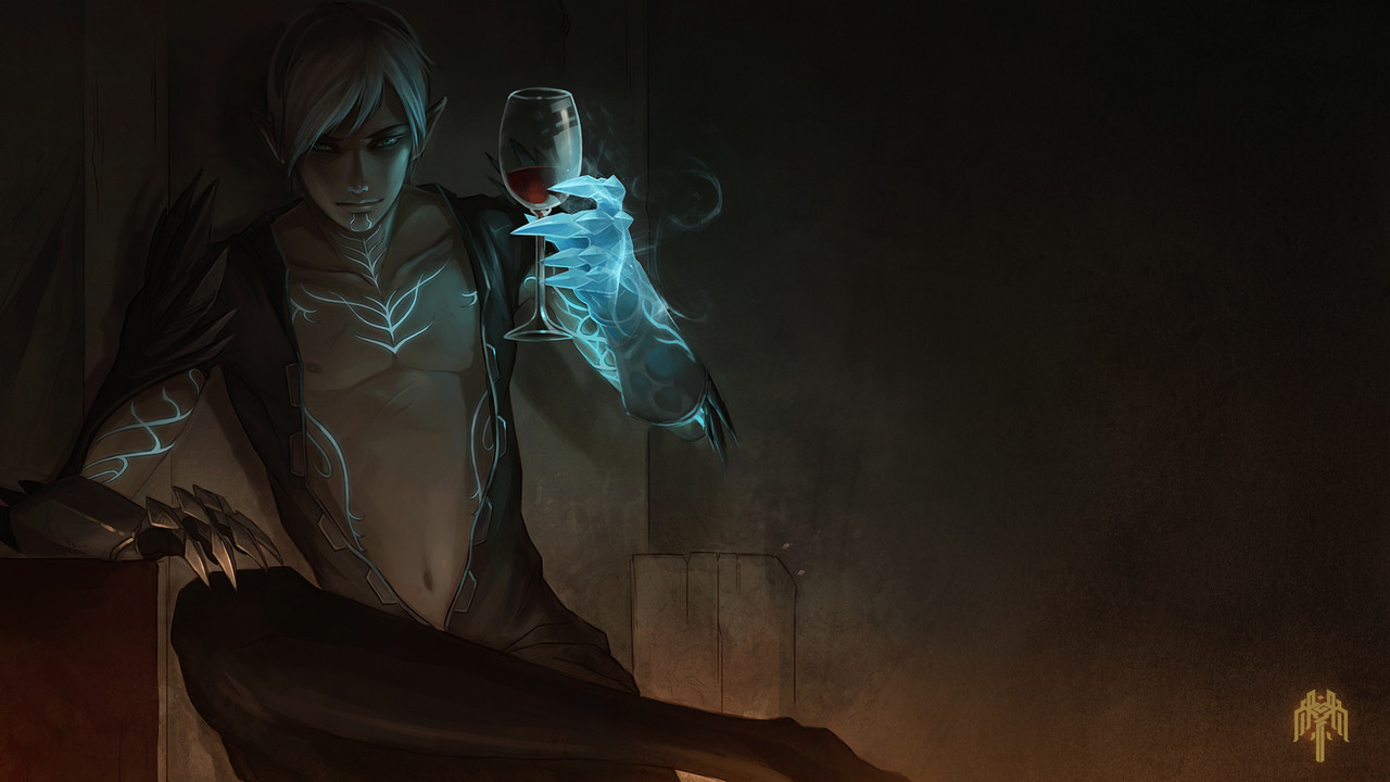 Fenris by sandara This is still one of my favourite Fenris fanart (as well as my current wallpaper)