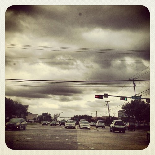 Cloudy day #clouds #rain #instagram #iphonography #photography #instadaily #iphone4s #dallas #dailypic #texas #usa  (Taken with Instagram)