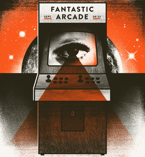 Branding for Fantastic Fest's Fantastic Arcade, held in Austin, TX.