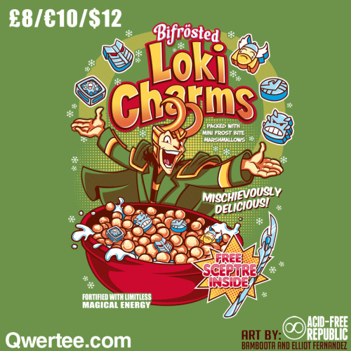 """Loki Charms"" on Qwertee! £8/€10/$12Follow me on FACEBOOK!"