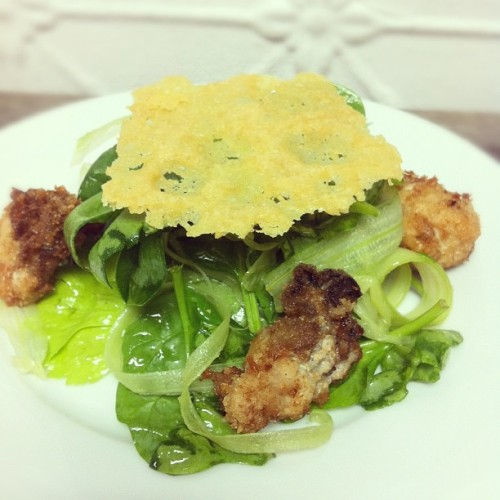 @citygrit special! Oyster Rockefeller Salad- shout out to Christine Wells, woot woot! (Taken with Instagram)