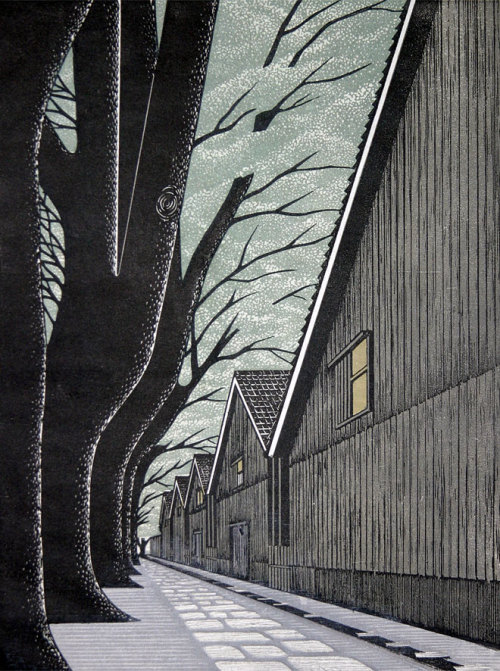 Woodblock print by Japanese artist Ray Morimura.