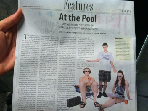 We're in the newspaper today!  Super excited!