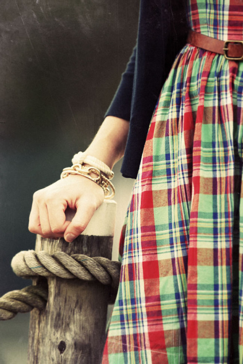 Dress: Ralph Lauren (old) Cardigan:  J. Crew (similar).  Bag: Kate Spade.  Shoes: Brooks Brothers. Bracelets: Loren Hope.  Kiel James Patrick.