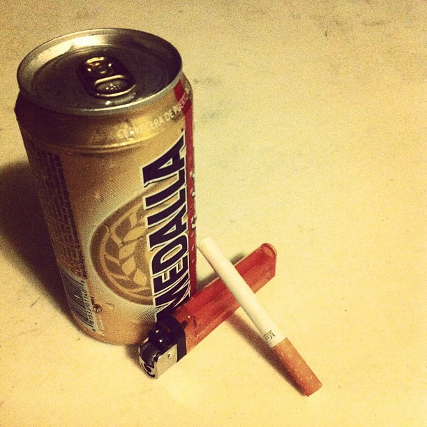 temporal-stasis:  M&M (Medalla y Marlboro) #marlboro #medalla #beer #cigarette  (Taken with Instagram)