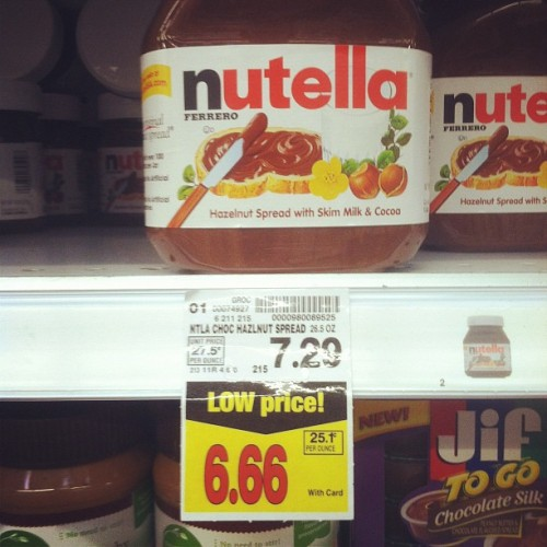 Nutella is the devil (Taken with Instagram at Ralphs)