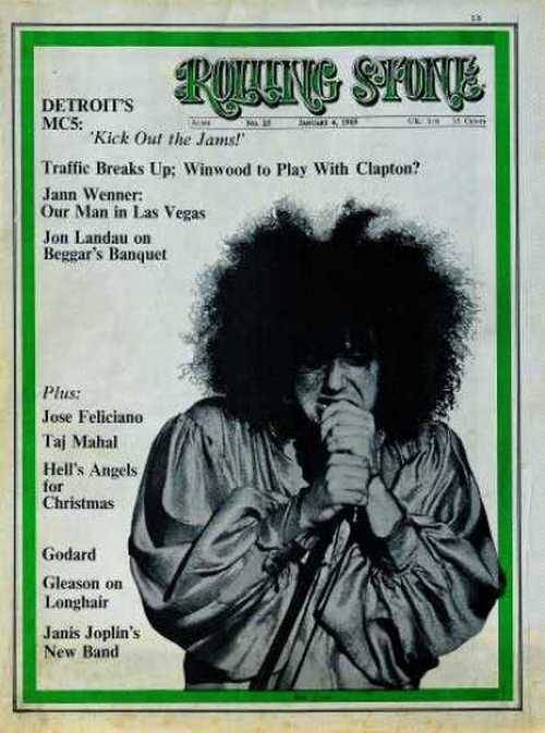 The MC5 on the cover of Rolling Stone, January 1969.