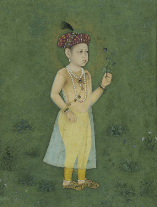 Shah Shuja as a ChildAttributed to Manohar (act. 1582–ca. 1624)