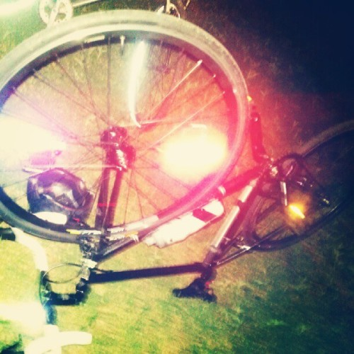 Thursday night social ride. (Taken with Instagram)