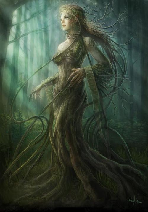 foxes-cauldron:  Dryad ~ also known as Sidhe Draoi, Faerie Druids, Tree Nymphs.