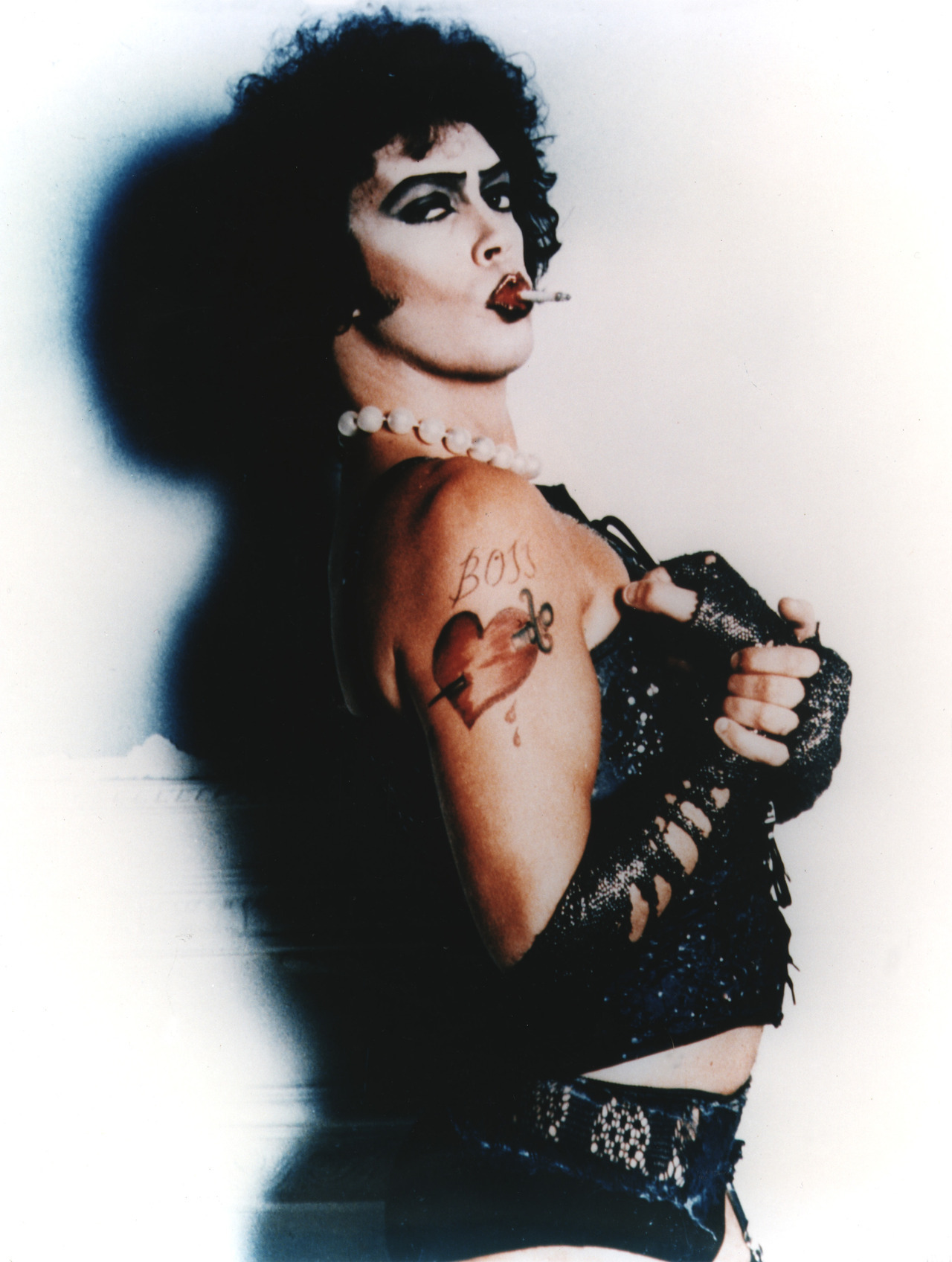 suicideblonde:  Frank-N-Furter photographed by Mick Rock