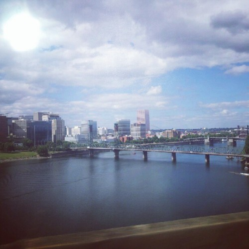 Driving through Portland to Seattle.  (Taken with Instagram)