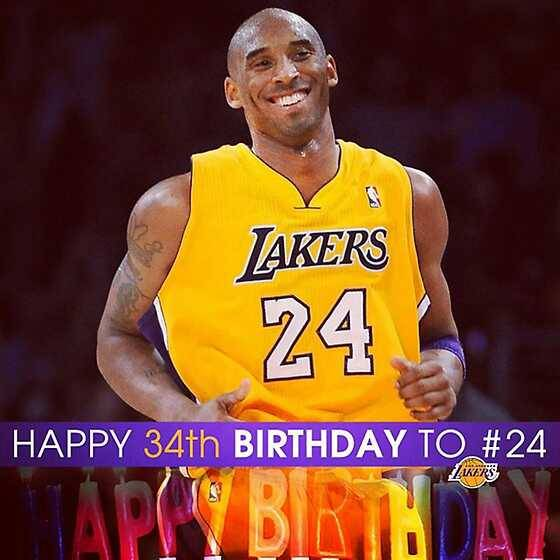 HAPPY 34TH BIRTHDAYYY KOBE BRYANT