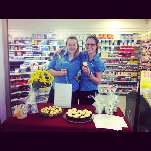 #Happy #Daffodil #day ! Love from #Rockingham #Medical #Pharmacy #charity #fundraiser #yummy #yellow #cupcakes #icaneatthemall by Courtney ! (Taken with Instagram at Rockingham Medical Centre)