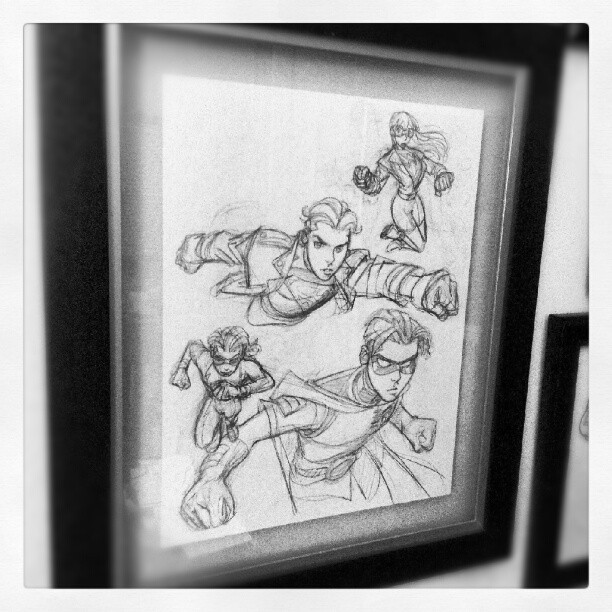Art on my walls: Mike Wieringo - Young Justice. #comics (Taken with Instagram)