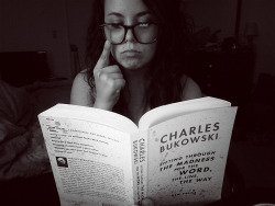 I almost forgot about naked reading thursday. I chose Bukowski. What can you say about him that hasn't already been said. All I know is that he comforts me in a way no other man can. I am typing this in a british accent to go with my distinguished face. -Alexis