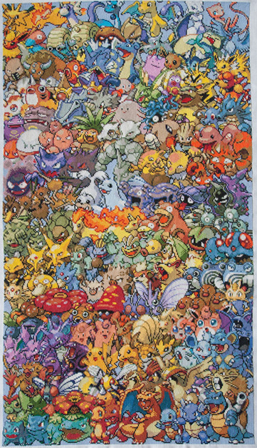 This is EPIC. I love old school pokemon, and this would be the best thing to hang on my wall.  (via)