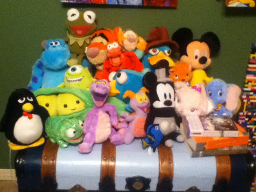 My Disney Stuffed Animal Collection. (: