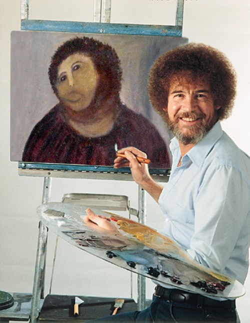 Bob Ross takes a stab at Ecce homo