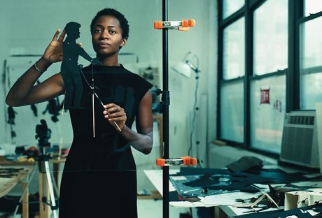 "becauseiamawoman:  Fem Art Friday Feature: Kara Walker Contemporary artist Kara Walker deals with the complicated issues of race, gender, and sexuality in her art pieces. These themes are often explored through her well-known silhouettes pieces. In her own words…  ""I was really searching for a format to sort of encapsulate, to simplify complicated things…And some of it spoke to me as: 'it's a medium…historically, it's a craft…and it's very middle-class.' It spoke to me in the same way that the minstrel show does…it's middle class white people rendering themselves black, making themselves somewhat invisible, or taking on an alternate identity because of the anonymity … and because the shadow also speaks about so much of our psyche. You can play out different roles when you're rendered black, or halfway invisible."" [Source]"