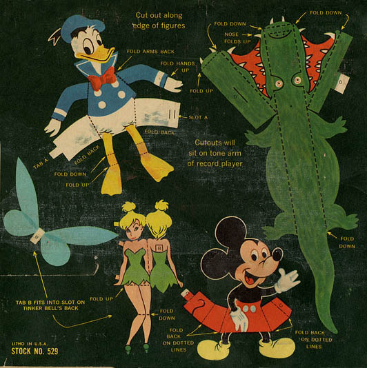 ladyizabel:  Vintage Cut out Toys Disneyland