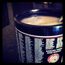 Iced Coffee on our class mug. 😝 #2011 (Taken with Instagram)
