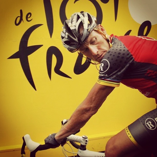 #lancearmstrong at #tourdefrance #cycling #sports #history #controversy (Taken with Instagram)