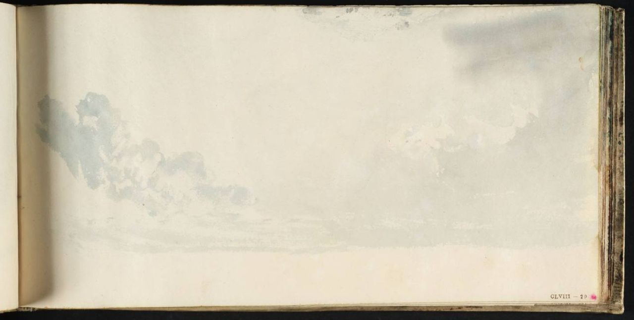 Joseph Mallord William Turner (1775‑1851)  Study of Sky circa 1816‑18 Skies Sketchbook
