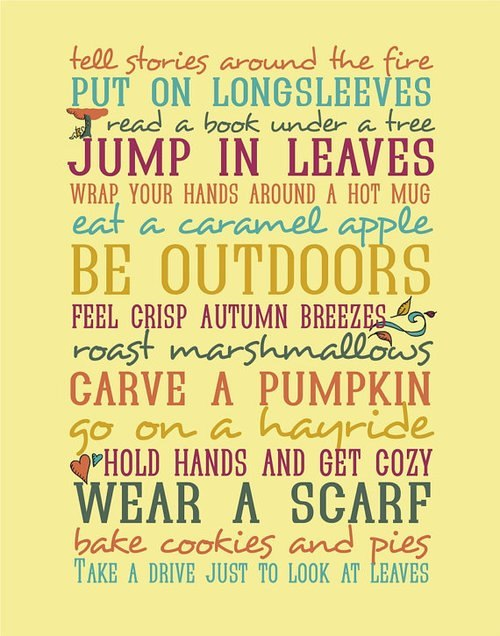 I will accomplish all of this in fall!