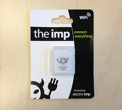 The Electric Imp provides an easy, integrated way to connect almost any hardware device to other devices and internet services. It's more than just a WiFi card, or even a WiFi module with processing built in - it's an integrated platform that deals with the drudgery of connectivity, allowing you to concentrate on the application instead of the mechanics.