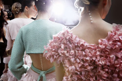 Backstage at Chanel Spring-Summer 2012 Ready-to-Wear