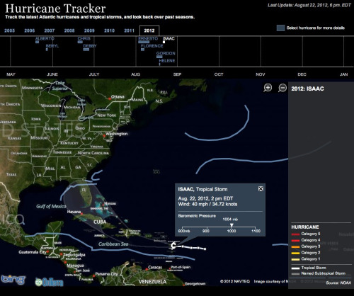 Tropical storm Isaac could strike Florida, hurricane forecasters say, triggering concern it might force a postponement or cancellation of the Republican National Convention in Tampa next week.