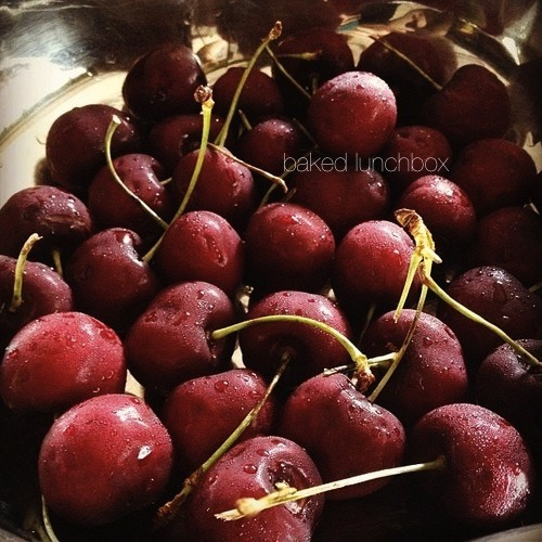Fresh cherries for snacks.  Diet tip: If you're hungry, choose fruits to munch on. Avoid chips, cakes, and other junk food that will just ruin your diet.