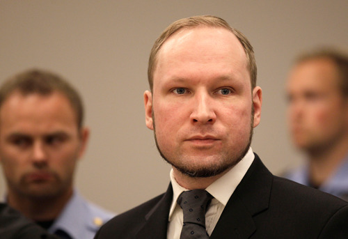 breakingnews:  Norwegian court rules Anders Behring Breivik sane, sentences him to prison The New York Times: A court on Friday sentenced Anders Behring Breivik, the Norwegian extremist who admitted killing 77 people, to at least 21 years in prison after ruling that he was sane when he carried out his country's worst peacetime atrocity. The sentence was the most severe permitted under Norwegian law, but it can be extended at a later date if he is still deemed to be a danger to society. Photo: Anders Behring Breivik listens to the judge in the courtroom, Friday, Aug. 24, 2012, in Oslo, Norway (Frank Augstein / AP)  It seems light by American standards, but this is the harshest possible sentence he could have gotten.
