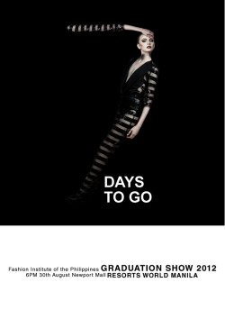 7 Days to go for the Graduation Show. Class of 2012