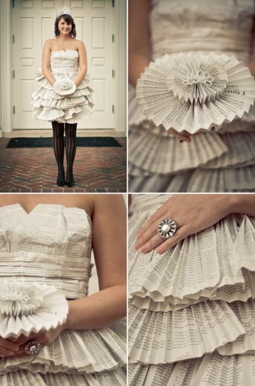 apeculiarmind:  paper dress