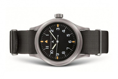 IWC Mark XI Pilot Watch At first glance, this IWC Mark XI Pilot Watch doesn't look like much. However, peel back the layers on the watch's storied pedigree and impressive vintage hand-wound caliber 89 movement and you just might find enough to justify the estimated $6,000 USD price tag. Swiss watch maker IWC was one of the original contracts whose watches were issued exclusively to British airmen during World War II, with production for the Mark XI beginning in 1948. Standard for many pilot watches of the time, the brushed, stainless steel case is fitted with an internal casing of soft iron to protect the movement from being adversely affected by magnetic fields. The watch itself gets a Nato strap, and luminous hour and minute markers. And if you're still not sold, a close look at the watch's case back reveals its extremely limited numbers — a true war survivor, and one highly sought after by watch collectors.