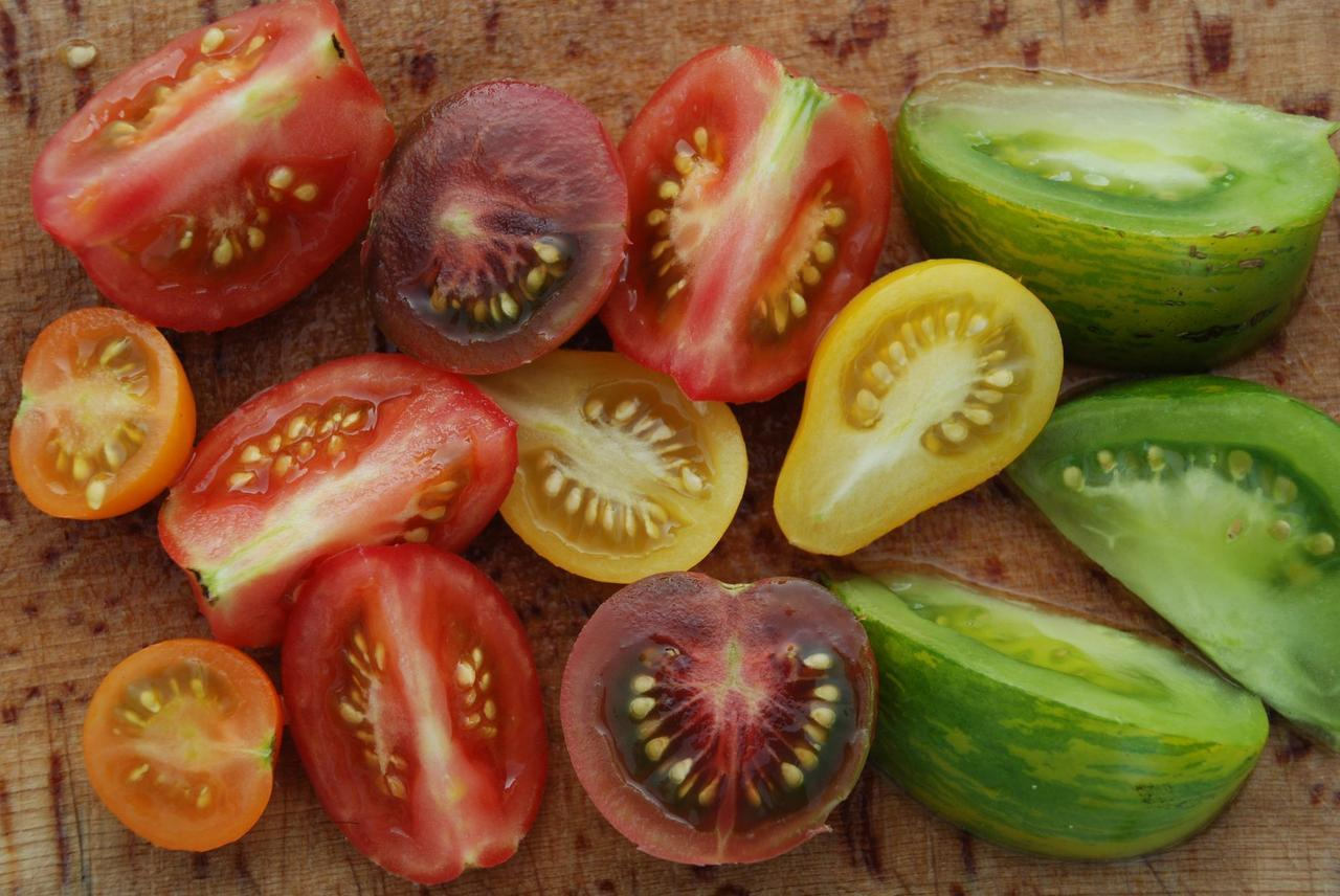 Reason #3267 for having a garden: delicious, juicy, colorful heirloom tomatoes