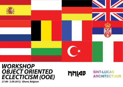 OOE Ghent is proud to anounce that an eclectic group of people from 12 different countries with diverse backgrounds in architecture, art, computation and engineering will gather in Ghent on Monday 27th for a one-week intensive workshop.