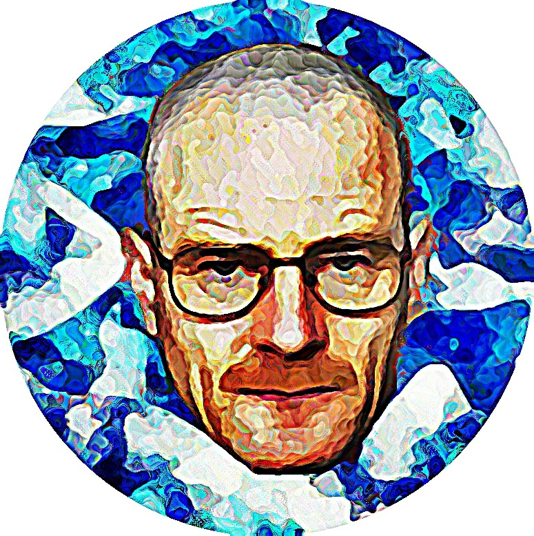 """Walter Hartwell White"" by Stacy Stephens microsoft paint collage 2012"