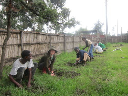Tree planting at Deneba Primary School with our students that we took to summer camp plus some of their friends and siblings.  They are well on their way to creating a successful environmental club!