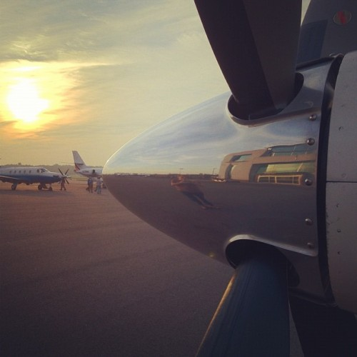 Flying to an island of the coast of Maine #ZAKBP (Taken with Instagram at Teterboro Airport (TEB))
