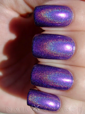 "China Glaze ""LOL"" — a sparkly violet holo polish, from the legendary OMG Collection  (via nailXchange: NOTD: China Glaze LOL)"