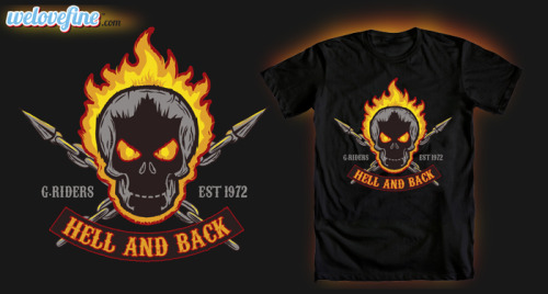 fanboy30:  'Hell & Back' Ghost Rider T-shirt by Matthew J Parsons at Welovefine.com
