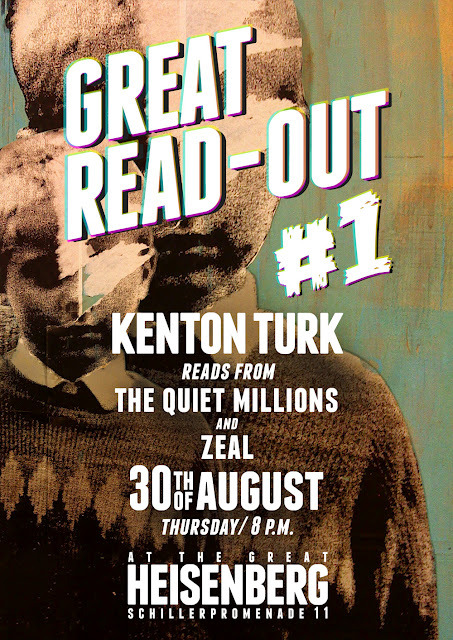 "Kenton Turk: The Great Read-Out #1The Great Heisenberg begins its series of ""Great Read-Outs"" with Kenton Turk, whose stories prove at turns tantalizing, tortured, touching and twisted. Here, seemingly average folks reveal extraordinary features, brains are turned inside out to reveal the inner workings, and some get what they deserve while others don't. Or maybe do, depending on your take on things. Read More"