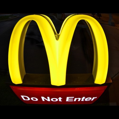 thetypoterrorist:  Do not enter #mcdonalds #food will #kill you #hopstarphotography  (Taken with Instagram)