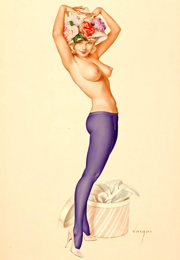 noonesnemesis:  Darling! Its My Hat I Want Your Opinion On! Alberto Vargas Playboy 1963